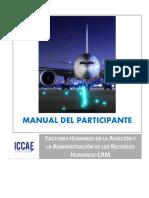 Manual del Participante - Factores Humanos en la Aviación y la Admon de los RRHH