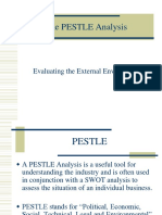 The PESTLE and SWOT Analysis
