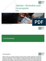 IEP, Informe OP Diciembre 2018 Los Peruanos y La Corrupción