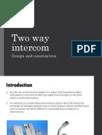 Two Way Intercom1