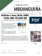 Brillantes v Yorac; GR No. 93867; 18 Dec 1990; 192 SCRA 358 – The Zamboangueña