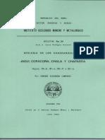 Geología - Cuadrangulo de Jaquí (31ñ), Coracora (31o), Chala (32ñ) y Cháparra (32o),1980