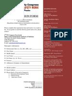 Registration Form_Patient Safety Congress 2019
