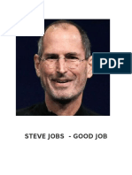GOOD JOB by Steve Jobs