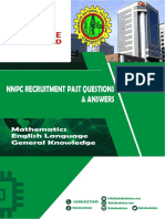 Nnpc Past Questions and Answers