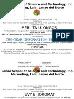 Diploma Tesda