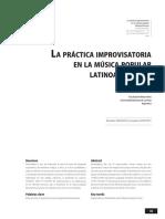 La Práctica Improvisatoria en La Música Popular Latinoamericana