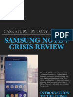Tonys Case Study Samsung Note 7