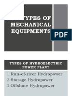 Reviewed Types of Mechanical Equipments