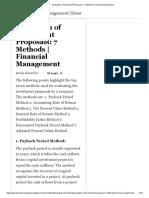 Evaluation of Investment Proposals_ 7 Methods _ Financial Management
