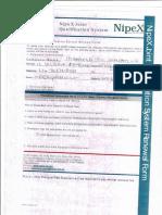 Nipex Requirements