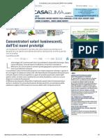 Concentratori Solari Luminescenti, Dall'Eni Nuovi Prototipi