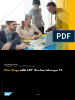 First Steps SAP Solution Manager 7.2