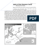 Geography of the Panama Canal Map Worksheet