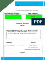 Gestion des risques liés à une mission d audit légal des états financiers _ cas du cabinet KAT. Mémoire de fin d études THEME.docx