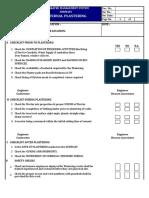 qa/qc checklist Internal Plastering