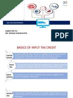 input tax credit-GST