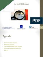 OJT Training _DOL-Region 1 Peer to Peer 6-16-16