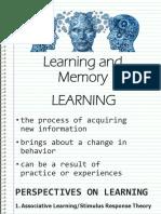 Learningand Memory