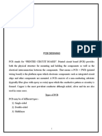 Traning report on PCB designing