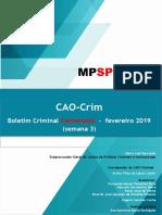CAO-Crim - Boletim Criminal