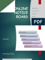 Online Notice Board