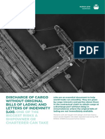 HFW Discharge of Cargo Without Original Bills of Lading and Letters of Indemnity LOIs March 2018