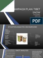 Tibet Snow Campaign Plan.