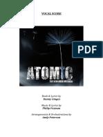 ATOMIC (Vocal Score)