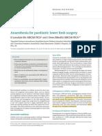 BJA Edu 2016 - Anaesthesia for Padeiatric Lower Limb Surgery