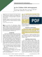 J Ped Ortho 2017 - Anaesthesia for Arthrogryposis Multiplex Congenita