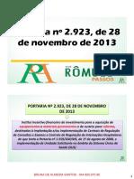 (s) 41.2 - Portaria Nº 2.923, De 28 de Novembro de 2013