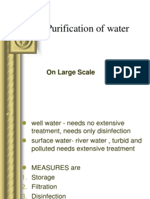 22613350-Purification-Water-large-Scale ppt | Filtration