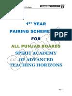 1st Y 2nd Year Pairing Scheme 2019