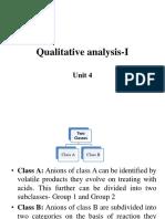 Qualitative Analysis-I