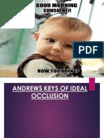 Andrews Keys of Occlusion