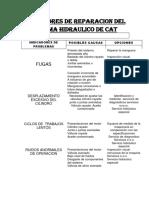 INDICADORES DE REPARACION DEL SISTEMA HIDRAULICO DE CAT.docx