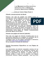 APA Referencias Electronicas