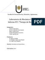 Laboratorio - Tiempo de Reaccion