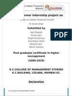 Nikhil Summer Internship Index