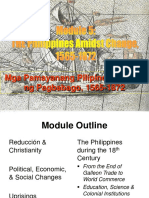 Module 5 - The Filipinos Amidst Change (1565-1872)