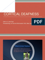 Cortical Deafness