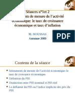 Taux de croissance et et taux d'inflation