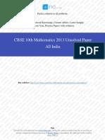 2013 Od Maths 10th Cbse Pyp