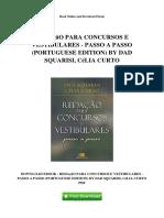 Redação Para Concursos e Vestibulares - Passo a Passo (Portuguese Edition) by Dad Squarisi, Célia Curto