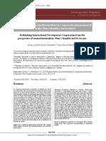 Repensar desde el neo institucionalismo la Cooperación Internacional al Desarrollo