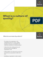 What is a Culture of Quality
