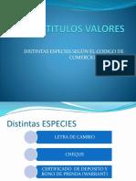 5. Titulos Valores - Distintas Especies