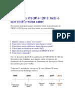 Atualização PBQP-H 2018
