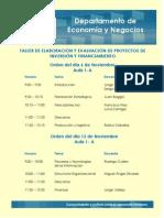 Taller de Elaboración y Evaluación de Proyectos de Inversión y Financiamiento 6/Nov